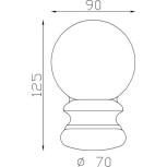 Boule d'ornement 125x90 base Ø70 - réf. 05 013