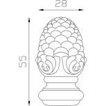 Pigne d'ornement 55x28 base Ø28 - réf. 05 021