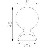 Boule d'ornement 45x30 base 25x25 - réf. 05 031