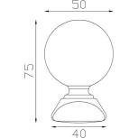 Boule d'ornement 75x50 base 40x40 - réf. 05 032