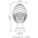 Pigne d'ornement 120x62 base Ø40 - réf. 05 131