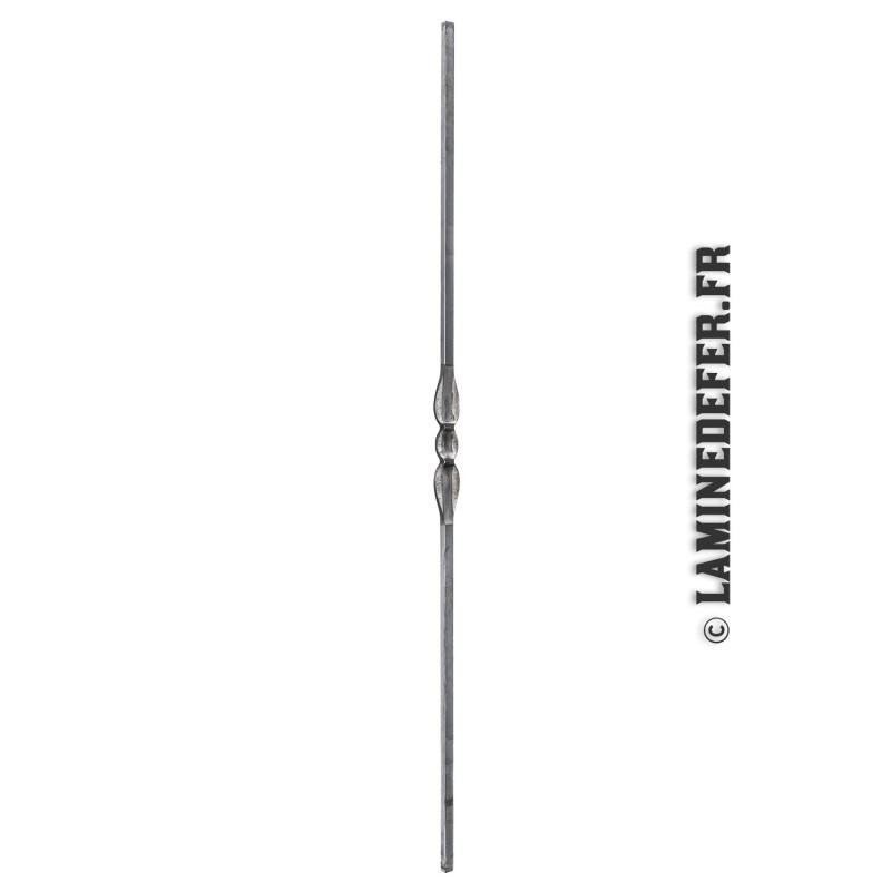 Barreau à simple motif en carré de 12 mm réf. 134/2
