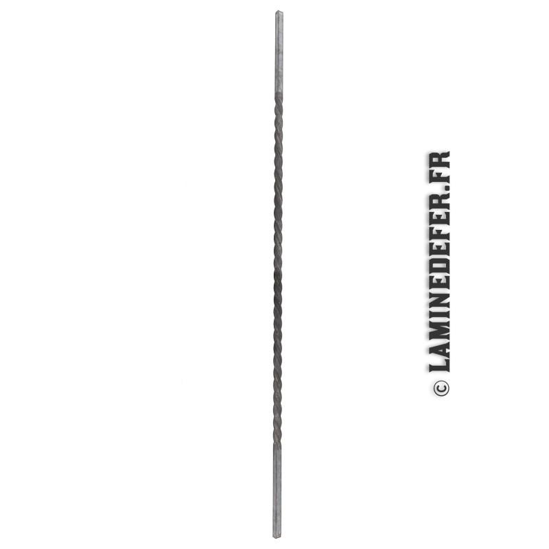 Barreau torsadé en carré 12 mm - réf. 1148/2
