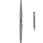 Motif aplati symétrique du barreau acier - réf. 573/2