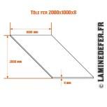 Schéma de la plaque / Tôle fer 2000x1000x8