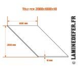 Schéma de la plaque / Tôle fer 2000x1000x10