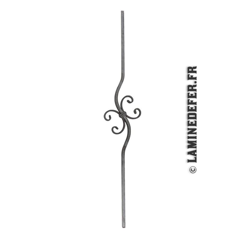Barreau simple motif volutes H 900 - carré 12 réf. 134/G/2