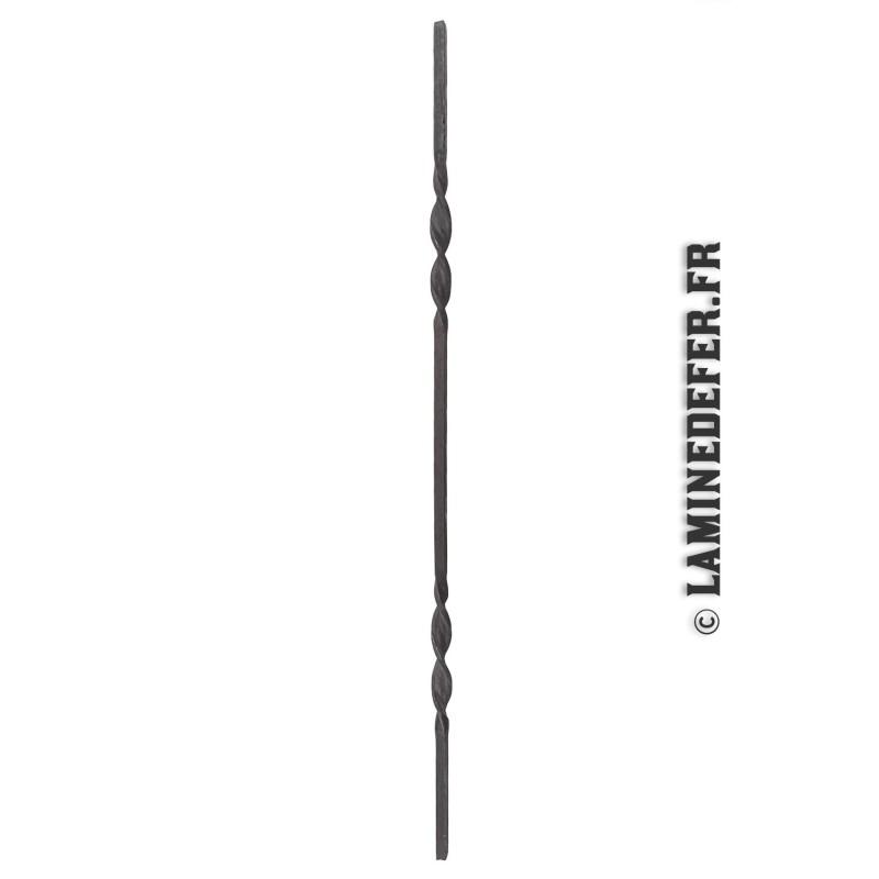 réf. 50/6 barreau en fer forgé avec double torsade