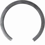 Cercle ouvert Ø 110 mm en plat 20x6 mm réf. 14 192