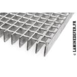 Demi-nappe caillebotis électroforgé 3000x1000 mm norme PRM et ERP