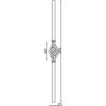 Schéma poteau en acier carré pour départ de rampe 06071