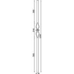 Schéma du poteau départ d'escalier en acier réf. 06131