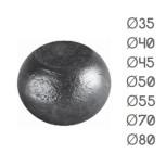 Diamètre boule méplate en acier