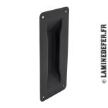 Poignée cuvette en métal noir en biais pour porte coulissante ROC DESIGN