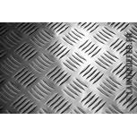 Tôle aluminium à damier 2000x1000x 4/5.5 mm